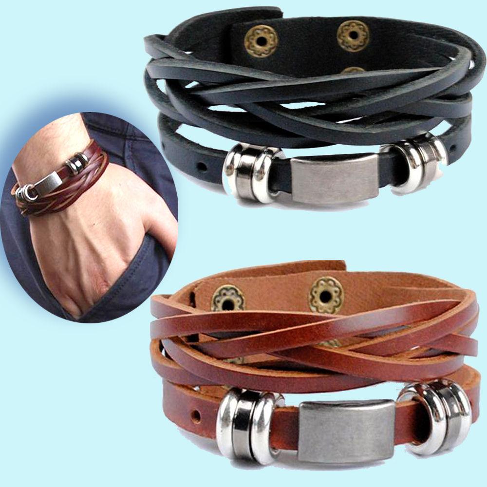 Lederarmband Nr.01/ ECHT LEDER Armband Surferarmband Herren Männer Flechtarmband