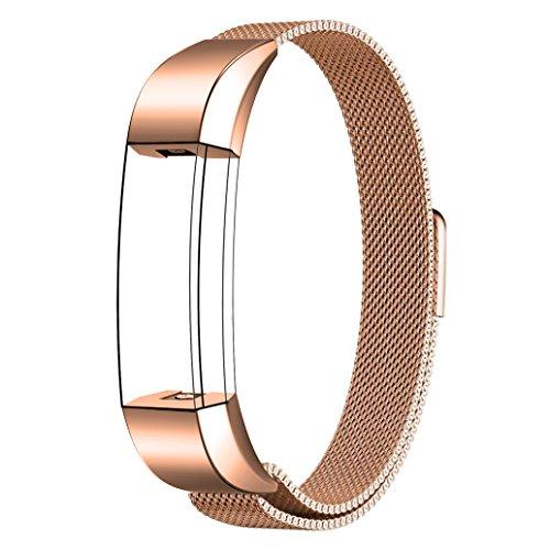 Fitbit Alta Armband Sport, Swees Edelstahl Uhrenarmband Mailänder Magnetschleife Edelstahlband Ersatz Armband Für Fitbit Alta - Roségold