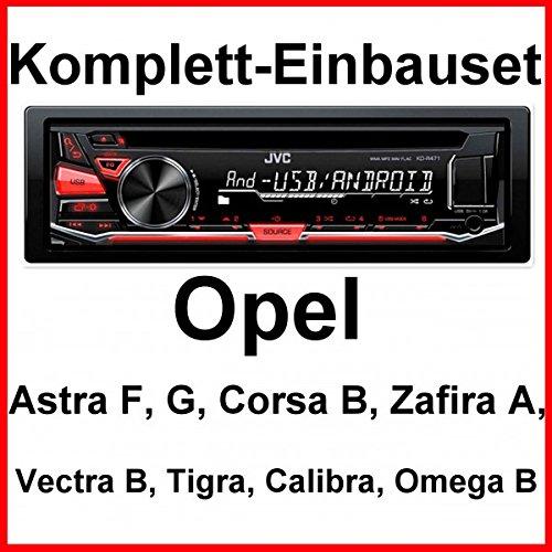Komplett-Set Opel Astra F G Corsa B Zafira A JVC KD-R471 Autoradio USB MP3 AUX