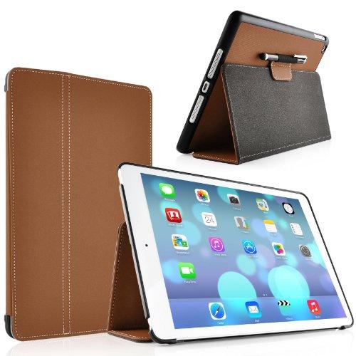 JAMMYLIZARD | Horizon Hülle für [ iPad Air 5. Generation ] Smart Cover mit automatischer Schaltfunktion, BRAUN