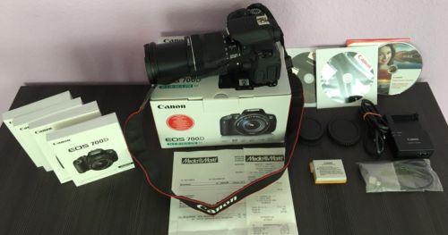 Canon EOS 700D / Rebel T5i 18.0MP EF-S 18-135mm IS STM Kit Objektiv mit Rechnung