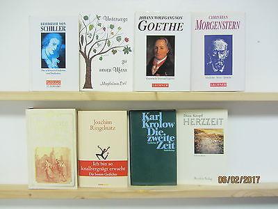 36 Bücher Gedichte Lyrik Reime Schiller Goethe Morgenstern Ringelnatz u.a.