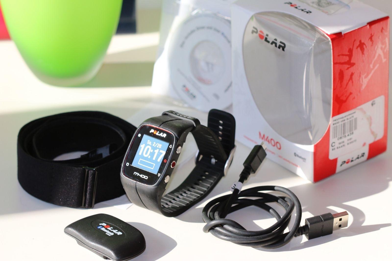 Polar M400 Smartwatch, GPS Sportuhr, Activity Tracker, mit Bluetooth Brustgurt