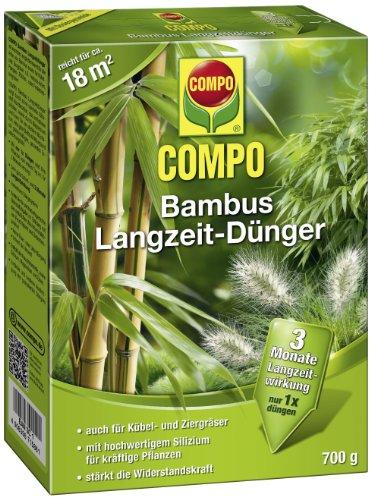 COMPO Bambus Langzeit-Dünger, hochwertiger Spezial-Langzeitdünger, für alle Arten von Bambus sowie Zier- und Kübelgräsern, 700 g