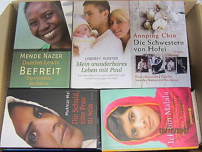 50 Bücher Schicksal Lebensgeschichten Lebenstragödien Lebensgeschichten