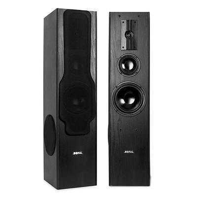 3-WEGE AUDIO HIFI STANDLAUTSPRECHER SET 2x TURM LAUTSPRECHER BASSREFLEX BOX 880W
