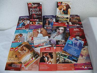 Buchpaket CORA 21Taschenbücher JULIA BACCARA BIANCA 67 Liebesromane