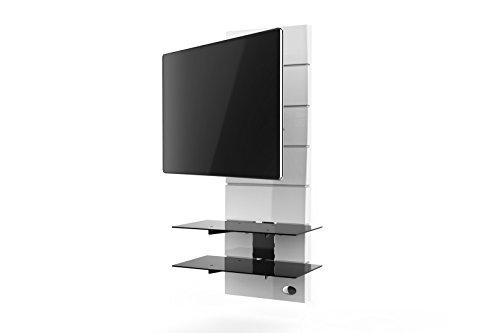 Meliconi 488311 BA Ghost Design 3000 Rotation Wandhalterung 81-160 cm (32-63 Zoll) für Fernseher weiß