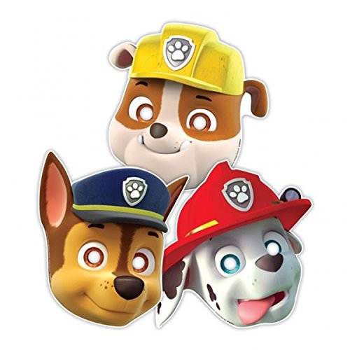 Amscan Masken für Kinder, Hunde-Design, 3Stück, bunt (Amscan International 999145)