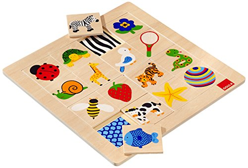 Goula D53019 - Holzpuzzle Muster, 16 Teile