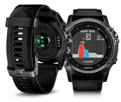 Garmin f?nix 3 Saphir HR in grau Sportuhr Smartwatch Neu und unbenutzt GPS Pois