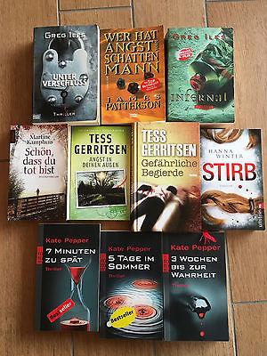 Bücherpaket (2) - 10 spannende Thriller / Romane (Gerritsen, Pepper, u.v.m.)