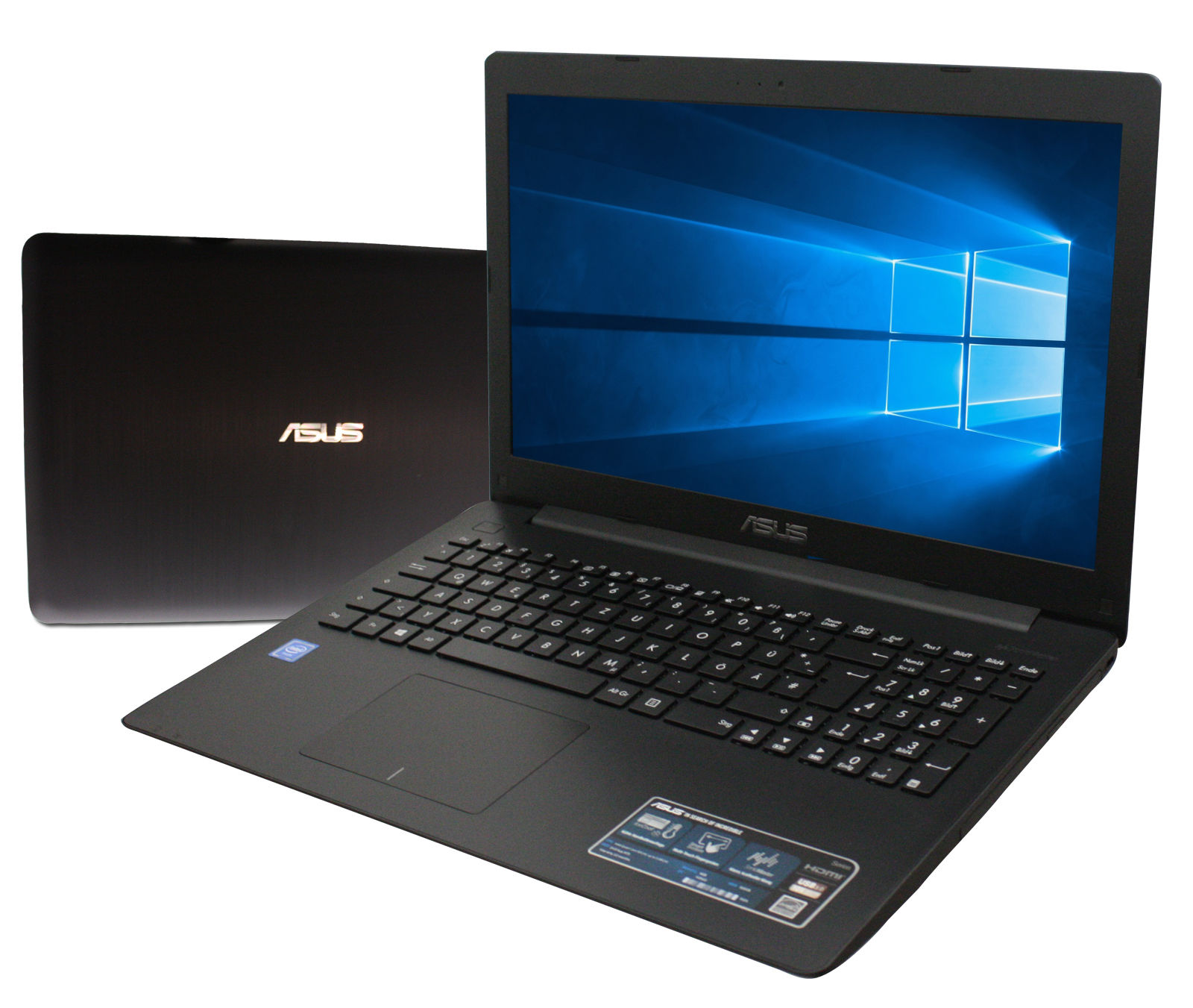 ASUS  17 Zoll  -Pentium Quad - 4 x 2,56 GHz - 500GB HDD - Schwarz - Win10