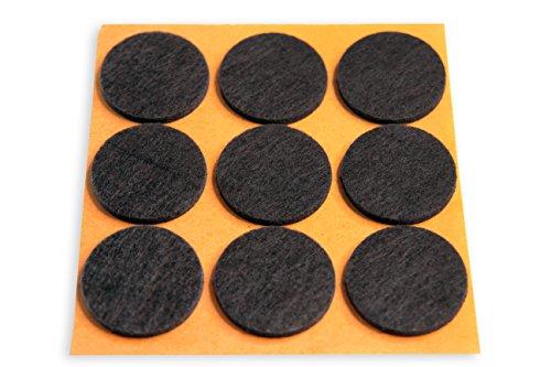 HAFTPLUS Filzgleiter - 12 x Filz Pads Selbstklebend Filzunterlage - Ideal Um Ihren Fußboden Zu Schonen