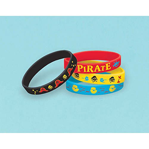 Amscan 397242Little Pirat Gummi Armbänder