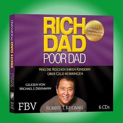 6CD Hörbuch RICH DAD POOR DAD   ROBERT T. KIYOSAKI   Was die Reichen ... - NEU