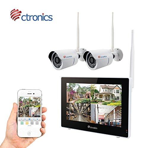 (Touchscreen)Ctronics überwachungskamera Set 2.4G drahtloses NVR WiFi-Kamera-System mit 9