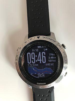Garmin Fenix Chronos Edelstahl Herren Smartwatch Armbanduhr