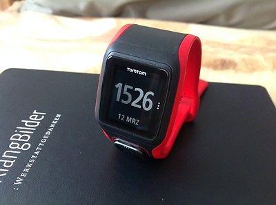 TomTom Runner Cardio GPS Laufuhr rot schwarz, wie neu, Sportuhr