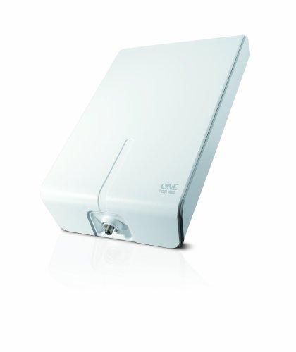 Verstärkte Antenne für den Innen- und Außenbereich von One For All - 52dB - Geeignet für den Empfang von DVB-T & DVB-T2 - Full HD ready - Weiß - Einfach zu installieren - SV9455