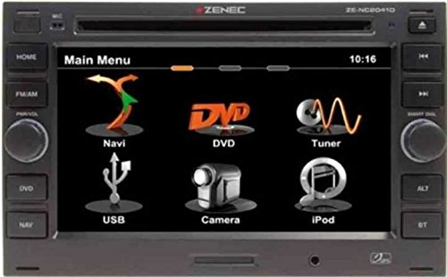 Zenec ZE-NC2041 Navigationssystem ( 6.5 Zoll Display,starrer Monitor, 16:9,Kontinent )