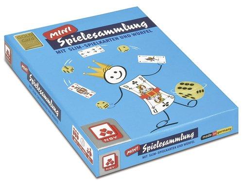 Nürnberger-Spielkarten 5011 - Mini-Spielesammlung Slim, 2 x 55 Romme Spielkarten mit 6 Kunststoffwürfel und Anleitung
