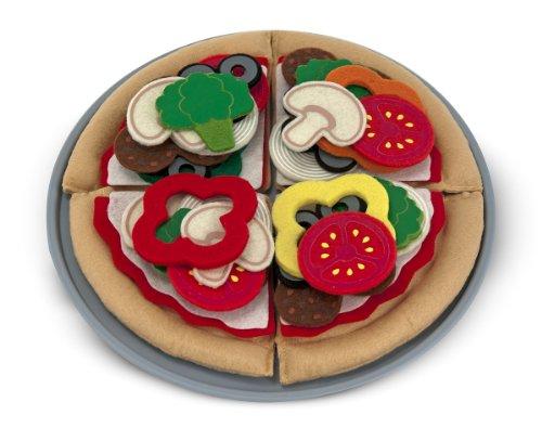 Melissa & Doug - 13974 - Filz-Lebensmittel Pizza-Set