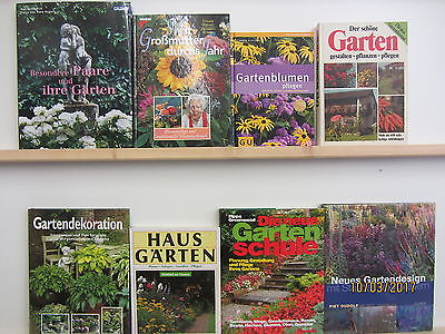 30 Bücher Garten gärtnern Gartengestaltung Gartenpflege Gartenkunst Gartenblumen