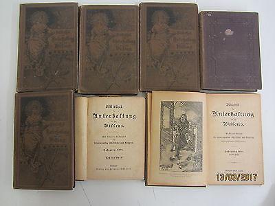 40  Bücher Bibliothek der Unterhaltung und des Wissens 1880-1890er  antiquarisch