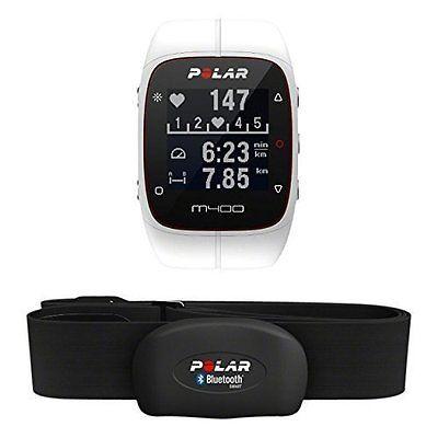 Polar M400 GPS HR weiss Pulsuhr Mod. 2016 mit H7-Brustgurt Herzfrequenzsensor
