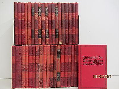 39 Bücher antiquarische Bücher Bibliothek der Unterhaltung und des Wissens