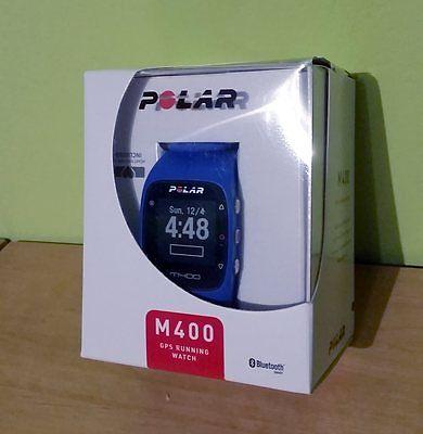 Polar M400 GPS Laufuhr - blau - wie neu