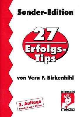 BUCH - HEFT - 27 Erfolgs-Tips Sonder Edition v. Vera F. Birkenbihl - TOP Zustand