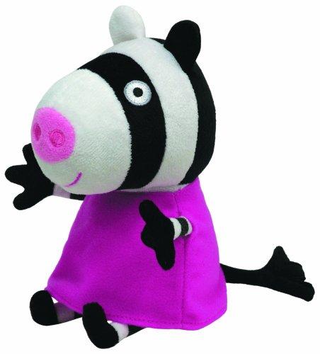 TY 46174 - Peppa Baby - Beanie Babies Zoe Zebra - Plüsch, 15 cm