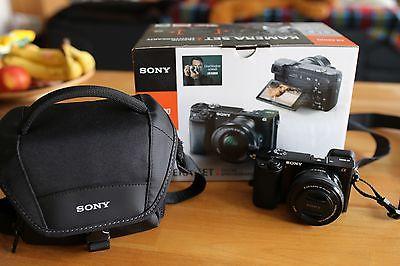 Sony alpha 6000 Kamera mit Zubehörpaket  Tasche + SD-Karte