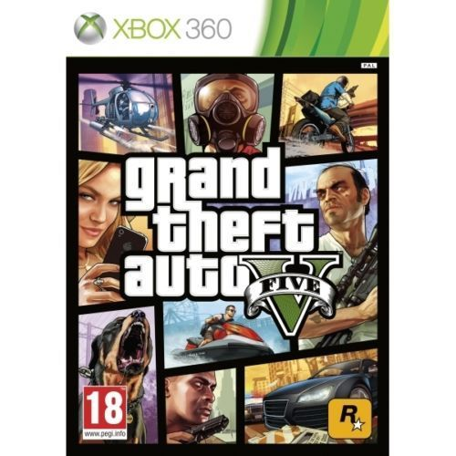 GRAND THEFT AUTO V 5 FIVE- GTA 5 - Very Good- XBOX 360 - 1st Class Delivery