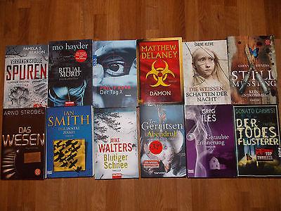 12x Thriller, Taschenbuch / Bücherpaket