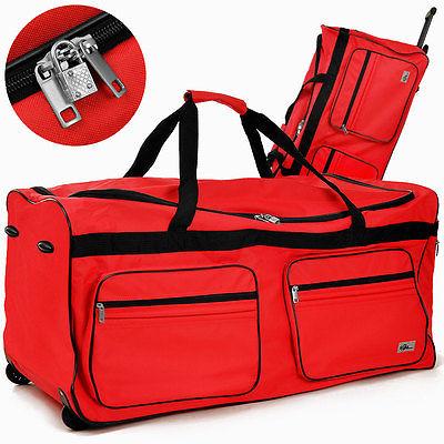 XXL Reisetasche 160 L Tasche Trolley Koffer Reisekoffer Sporttasche Case Rot