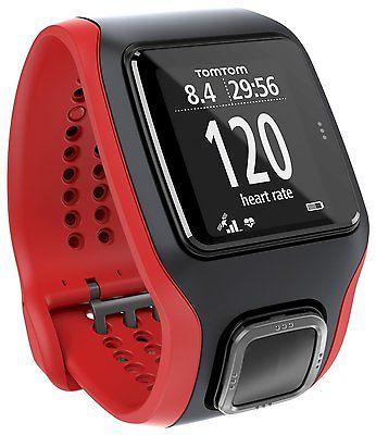 TomTom Runner Cardio GPS-Sportuhr schwarz/rot refurbished
