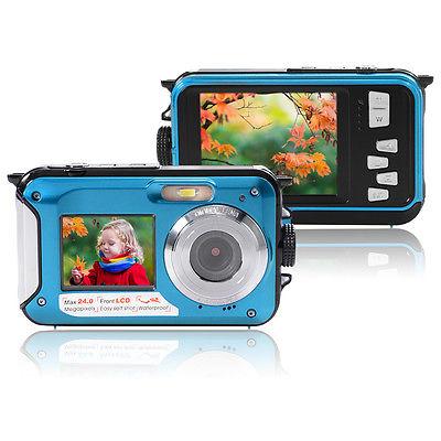 Unterwasser Kamera Doppel Bildschirm 24MP Dual LCD Digitale Video CamcorderLF761