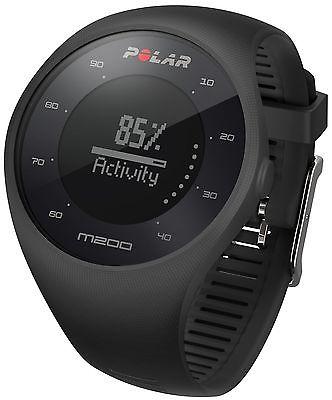 Polar Laufuhr M200 GPS Sportuhren Schwarz