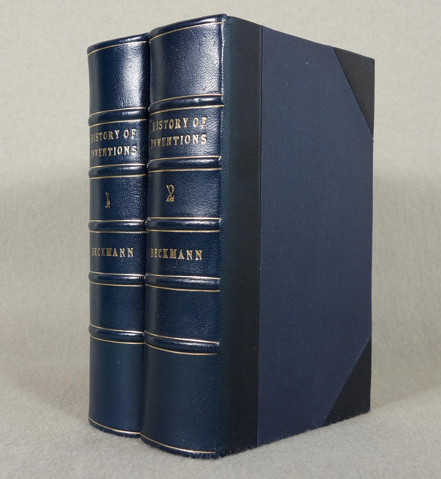 1846 - Prachtausgabe - Erfindungen - LEDER Naturwissenschaft Technik Klassiker