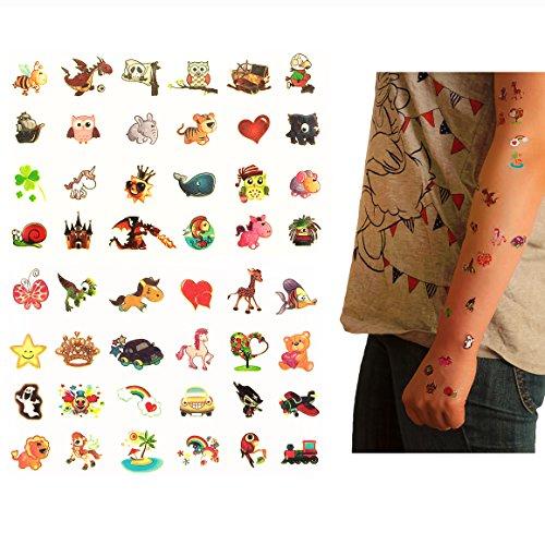 Oblique-Unique® Tattoo Set 96 Stück Kindertattoos Leuchten im Dunkeln