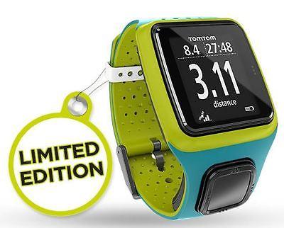 TomTom GPS-Uhr Runner - Türkis/Grün - Limited Edition - inkl Fahrradhalterung
