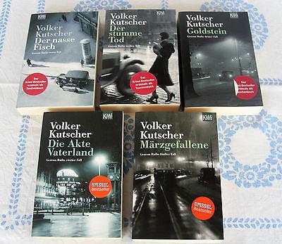 Buchpaket 5 x Volker Kutscher: 1. - 5. Fall - Krimi Weimarer Republik Berlin !!!