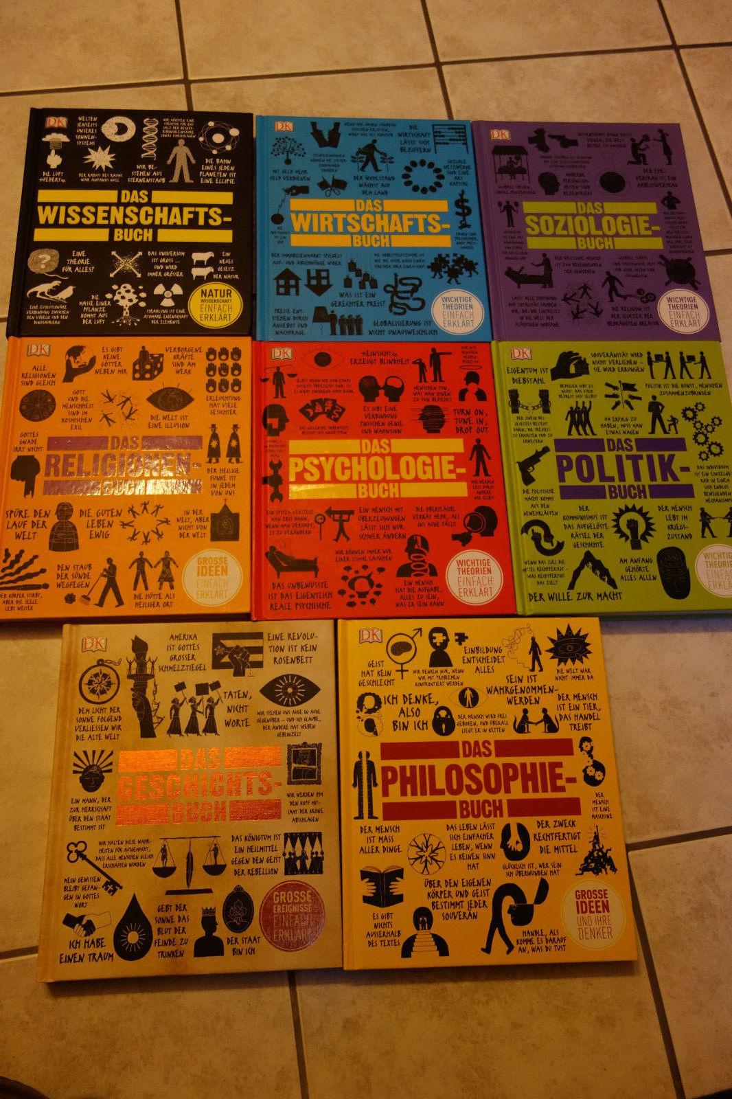 8 x Dorling Kindersley-Wissens-Bücher Politik,Geschichte,Psycho-u.Soziologie u.a