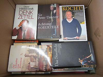 50  Bücher Hardcover Romane Sachbücher verschiedene Themen