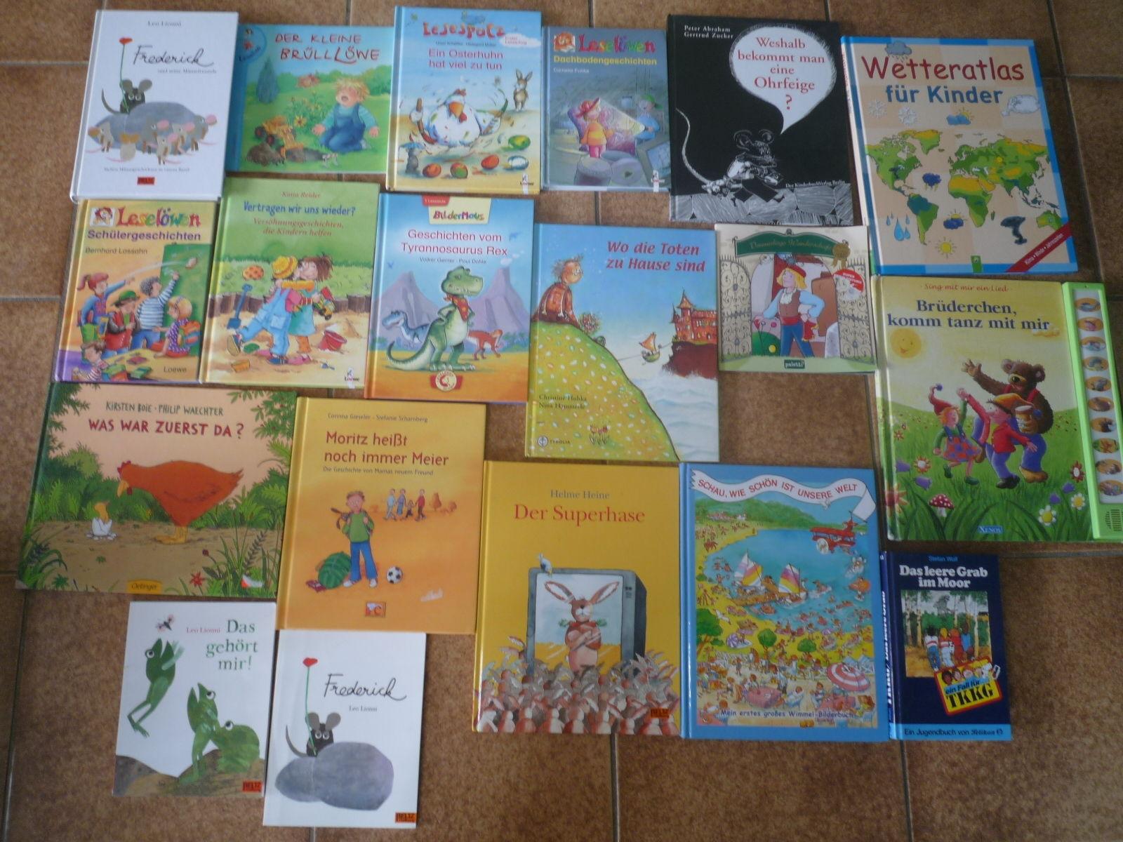 Sammlung Paket Bilder-Bücher Lesen Lernen Kinder 19 St.Leo Lionni,Helme Heine...