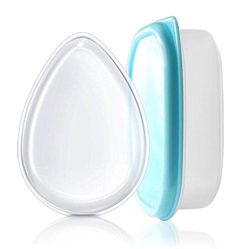 MAANGE Silikon Puff Schwamm Beauty Blender Applikator für Make-up und Bräunen Lotion mit einer Box