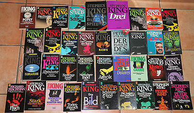 Das große Stephen King Buchpaket , 37 Bücher ! Richard Bachman Peter Straub LOT